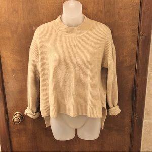 Brushed camel mock neck sweater. Size medium